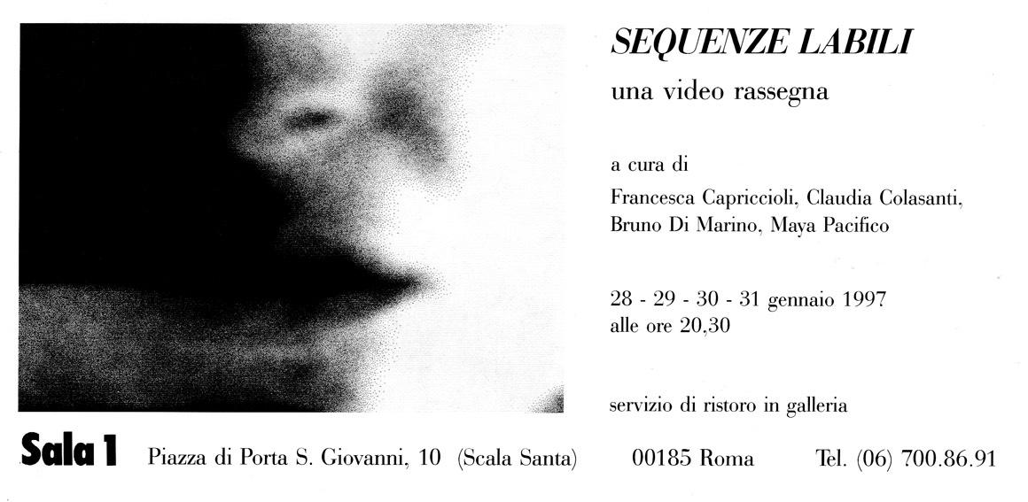 SEQUENZE LABILI, group exhibition, Galleria Sala1, Roma